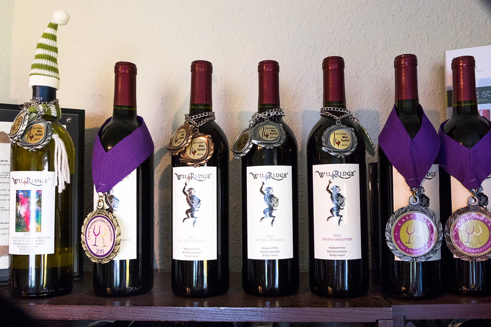 Award winning Wilridge Winery wines (Image: Paola Thomas/Seattle Refined)