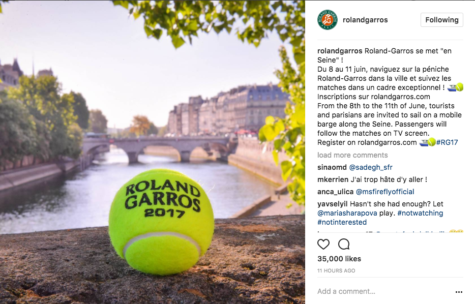 Roland-Garros reminds us that we are only days away from the 2017 event! Watch LIVE coverage on Tennis Channel and Tennis Channel Plus May 22-June 11