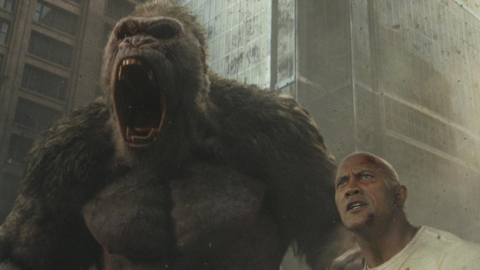 Weekend box office: A late surge pushes Dwayne Johnson's 'Rampage' to the top