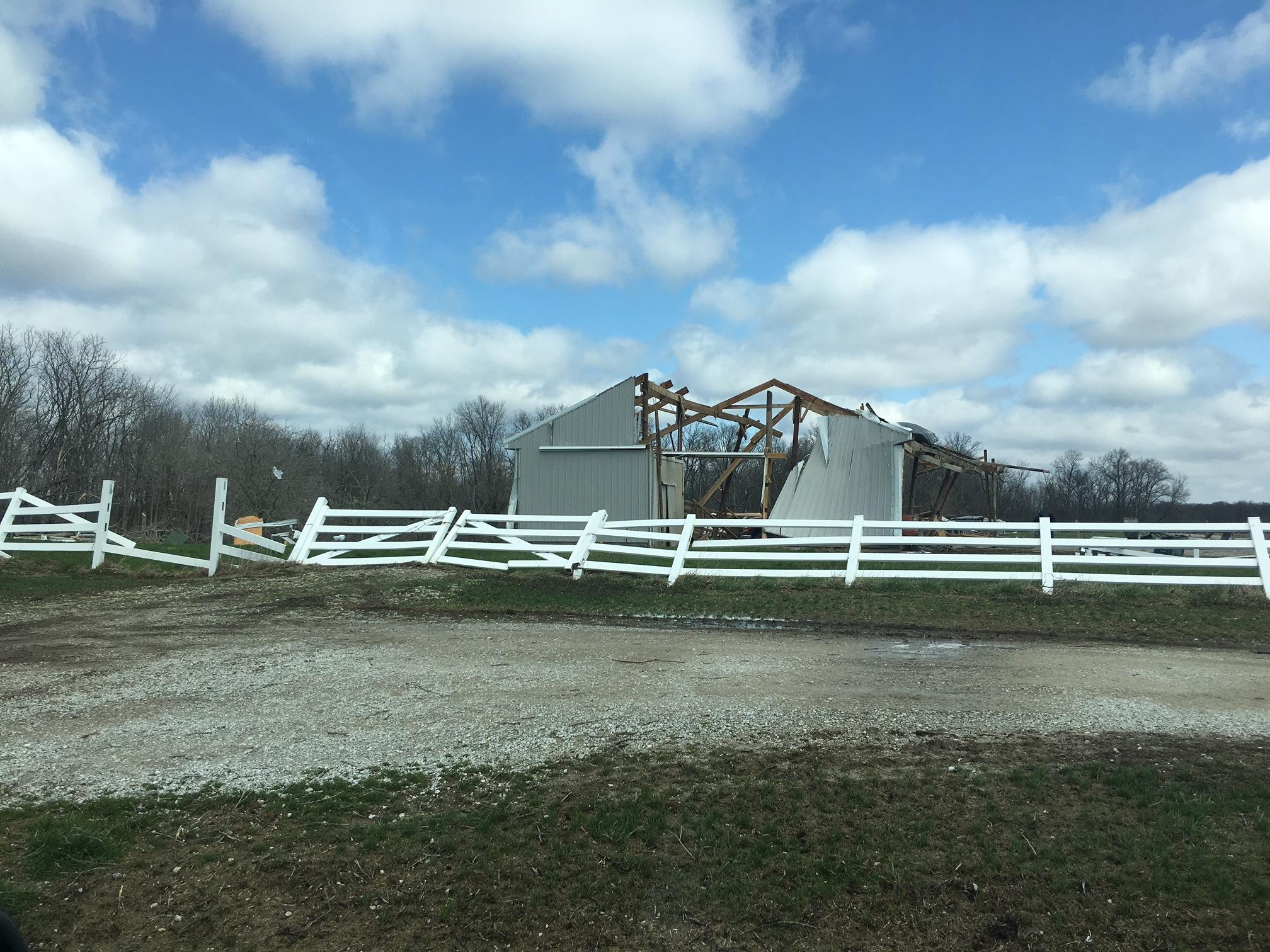 Tuesday's storms caused severe damage to several homes in Fayette County. (Nikki McGee)