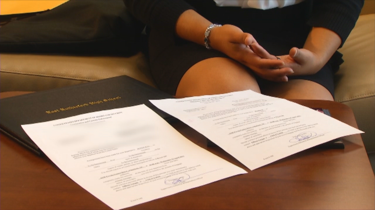 Sthefany Flores Fuentes, a Gardner-Webb University student who grew up in Forest City and was faced with the threat of deportation, will get to stay in the U.S. after learning an interview over her immigration status was canceled. (Photo credit: WLOS staff)