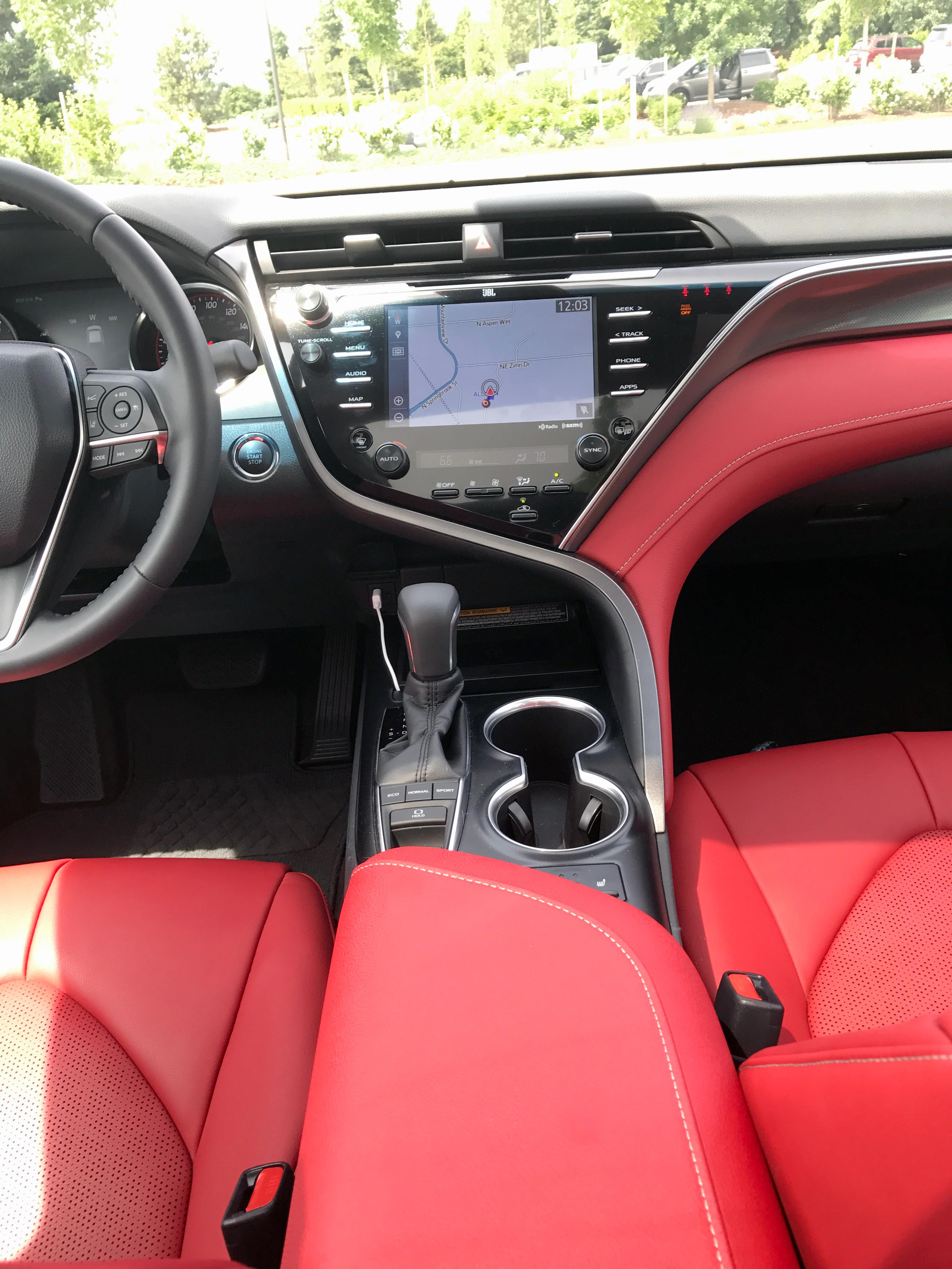 2018 toyota white camry with red interior. Fine Toyota 2018 Toyota Camry XSE Trim Interior Sinclair Broadcast Group  Jill  Ciminillo Inside Toyota White Camry With Red