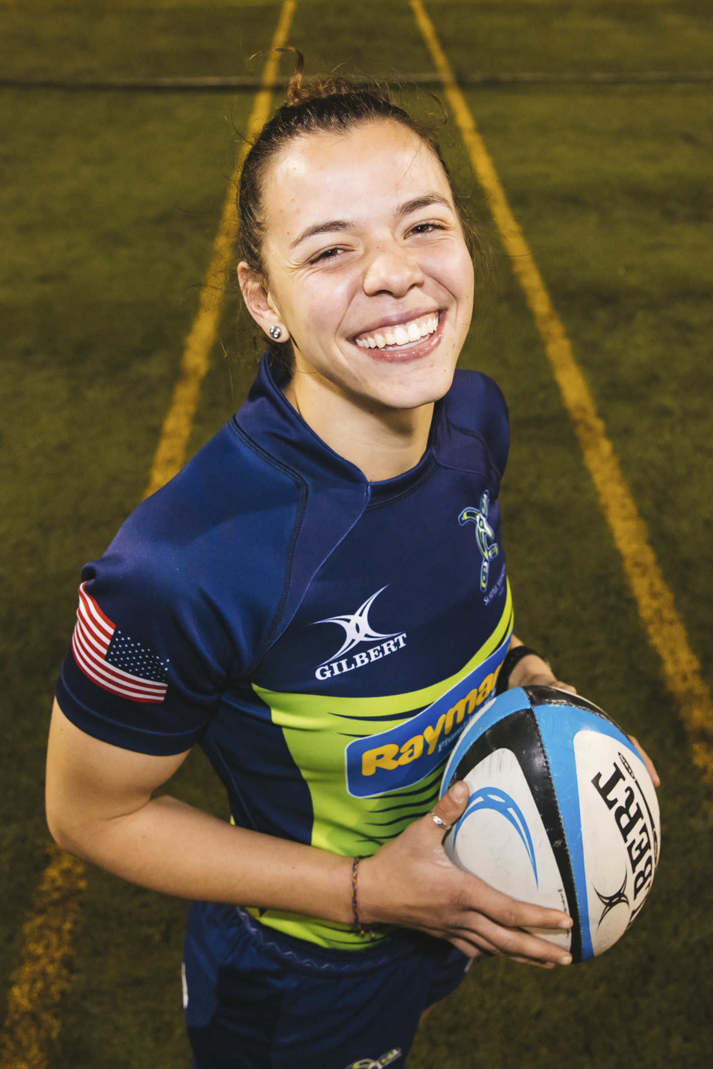Meet Stefani! Stefani plays flanker and she loves avocados and the Breakfast Club (Image: Sunita Martini / Seattle Refined).