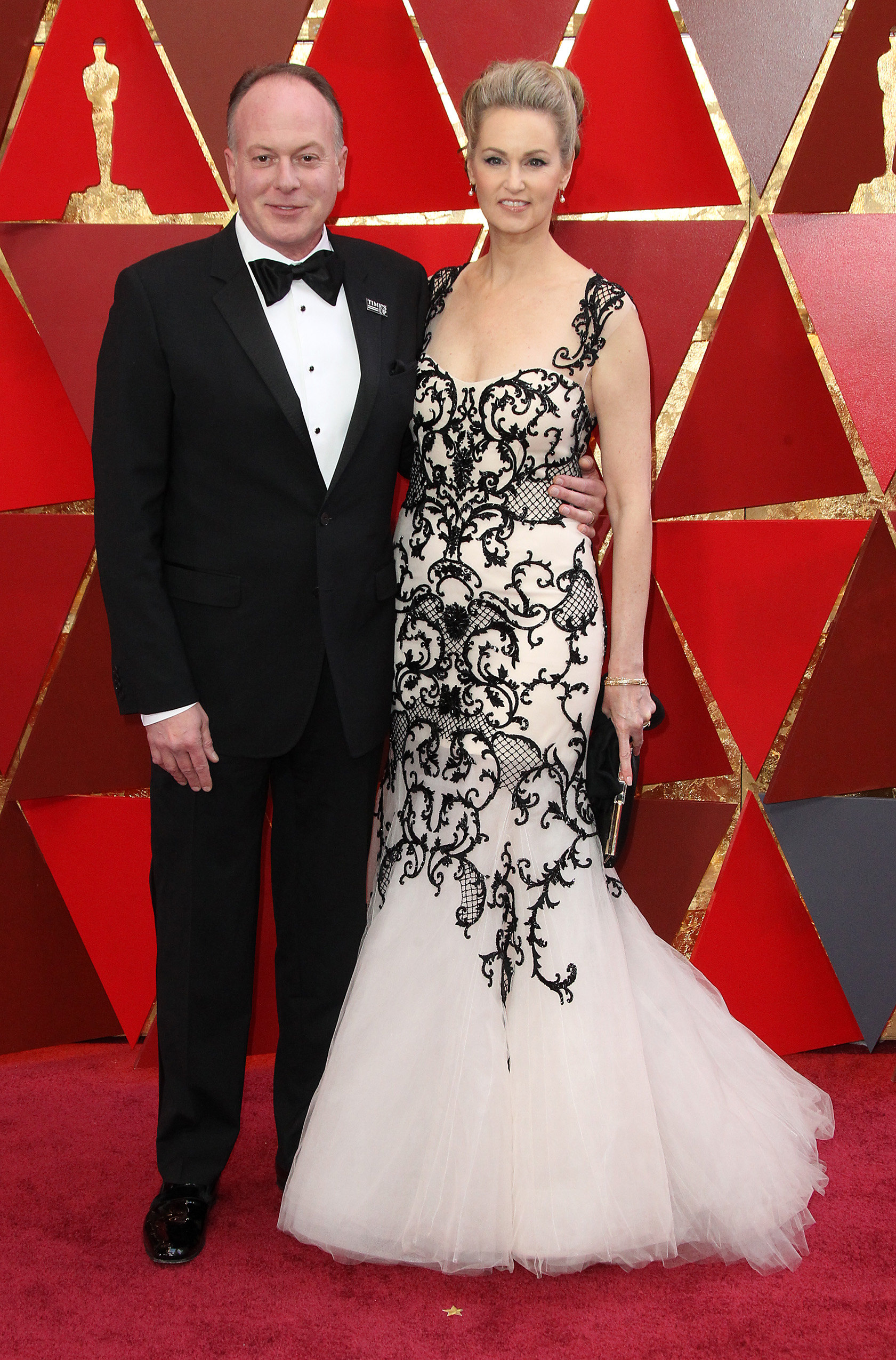 Tom McGrath and guest{&nbsp;}arrive at the 90th Annual Academy Awards (Oscars) held at the Dolby Theater in Hollywood, California. (Image: Adriana M. Barraza/WENN.com)<p></p>