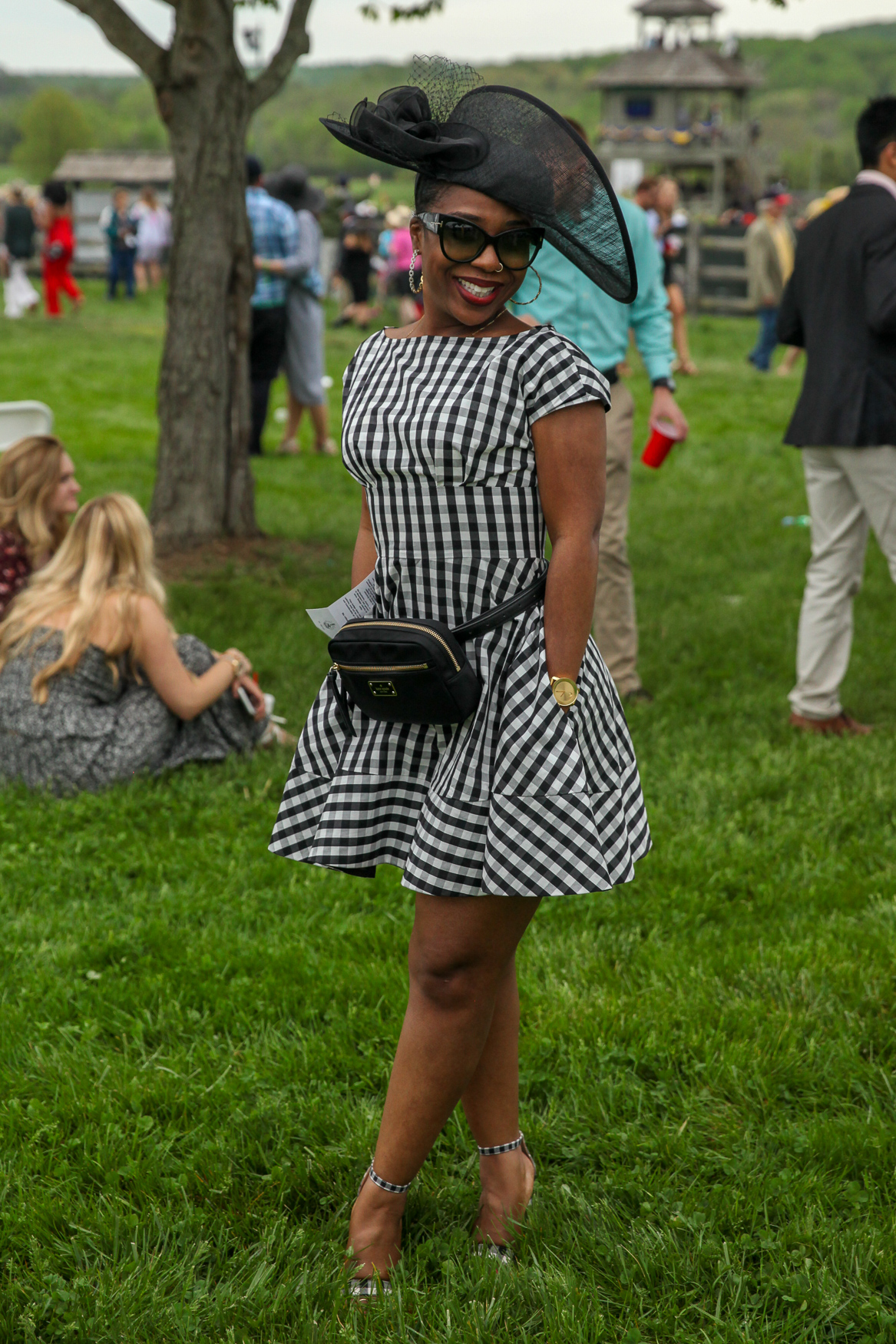 We love how the checks are accentuated by the flared cut of this dress.{ }(Amanda Andrade-Rhoades/DC Refined)
