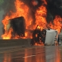 Tractor-trailer wreck, fire closes West Virginia Turnpike near Chelyan