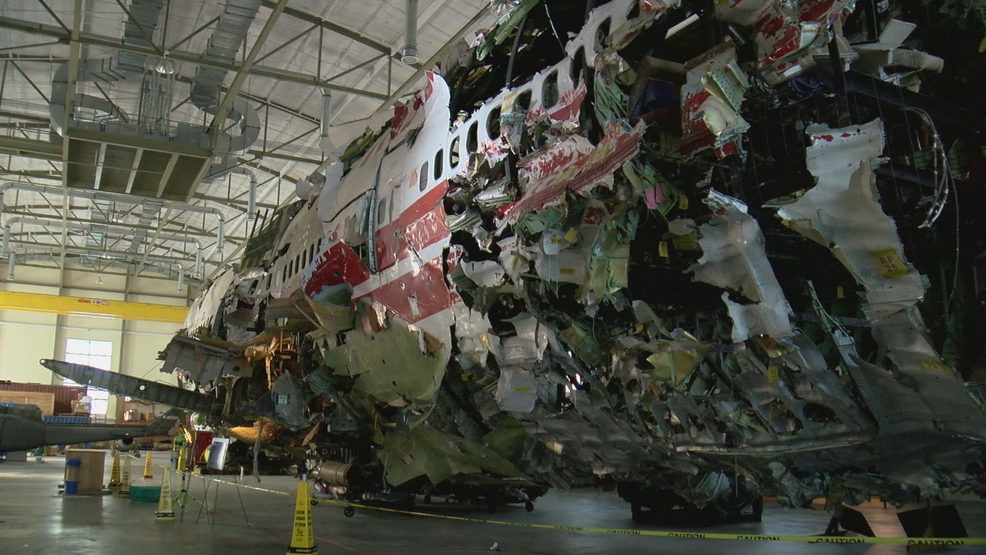 747 from deadly 1996 TWA Flight 800 sits largely reembled in ... Plane Crash Investigation Warehouse on helicopter crash investigation, fire investigation, plane crashes on property, police crash investigation, plane home, air force crash investigation, truck accident investigation, bus accident investigation, plane patent, airbus crash investigation, air plane investigation, aircraft crash investigation,
