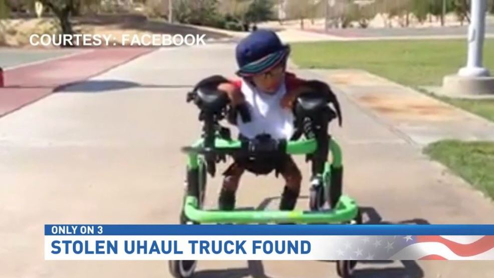 U-Haul stolen from local family found, missing child's medical equipment