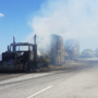 Roads open after hay truck fire caused six-hour closure at I-82 west