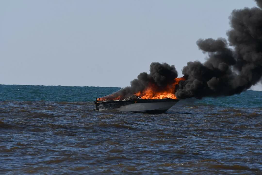 South Haven Area Emergency Services responded to a boat explosion and fire off the South Haven pier in Lake Michigan.