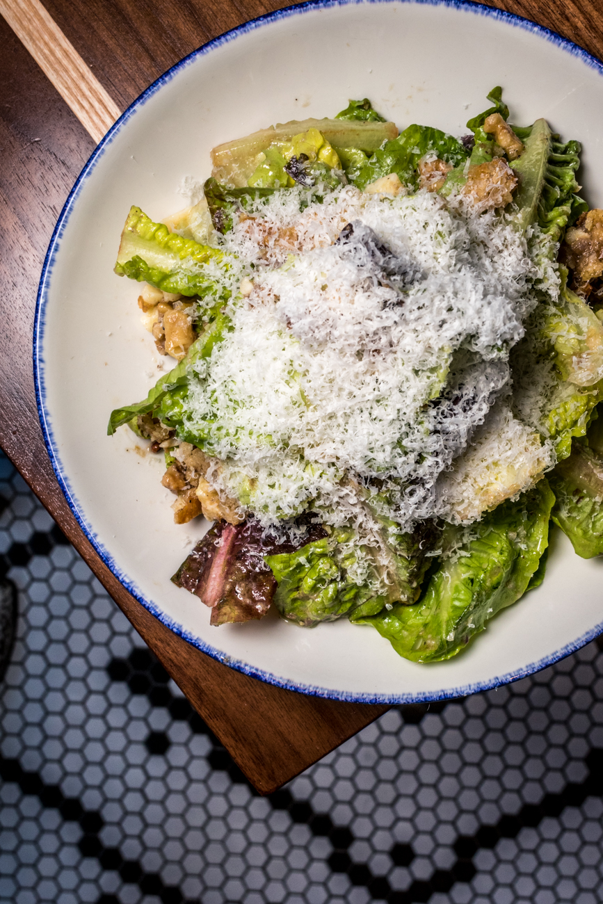 Gem Salad: gem lettuce, walnut, Ubriaco Rosso cheese, croutons, citrus-caesar dressing, and Parmigiano-Reggiano / Image: Catherine Viox{ }// Published: 2.11.20