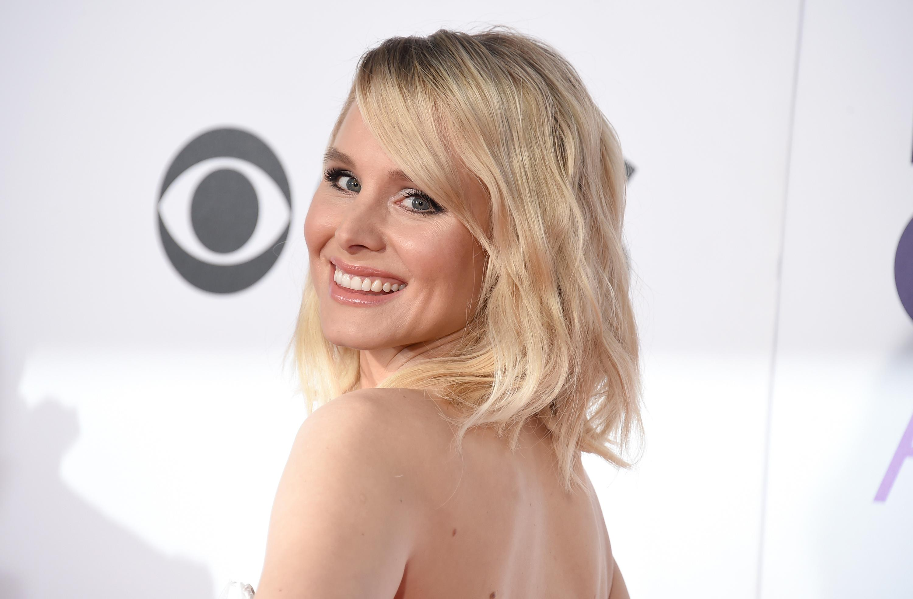 FILE - In this Jan. 18, 2017, file photo, Kristen Bell arrives at the People's Choice Awards at the Microsoft Theater in Los Angeles. Bell rode out Hurricane Irma on Sept. 10, 2017,  at a hotel on the Walt Disney World resort in Florida. (Photo by Jordan Strauss/Invision/AP, File)