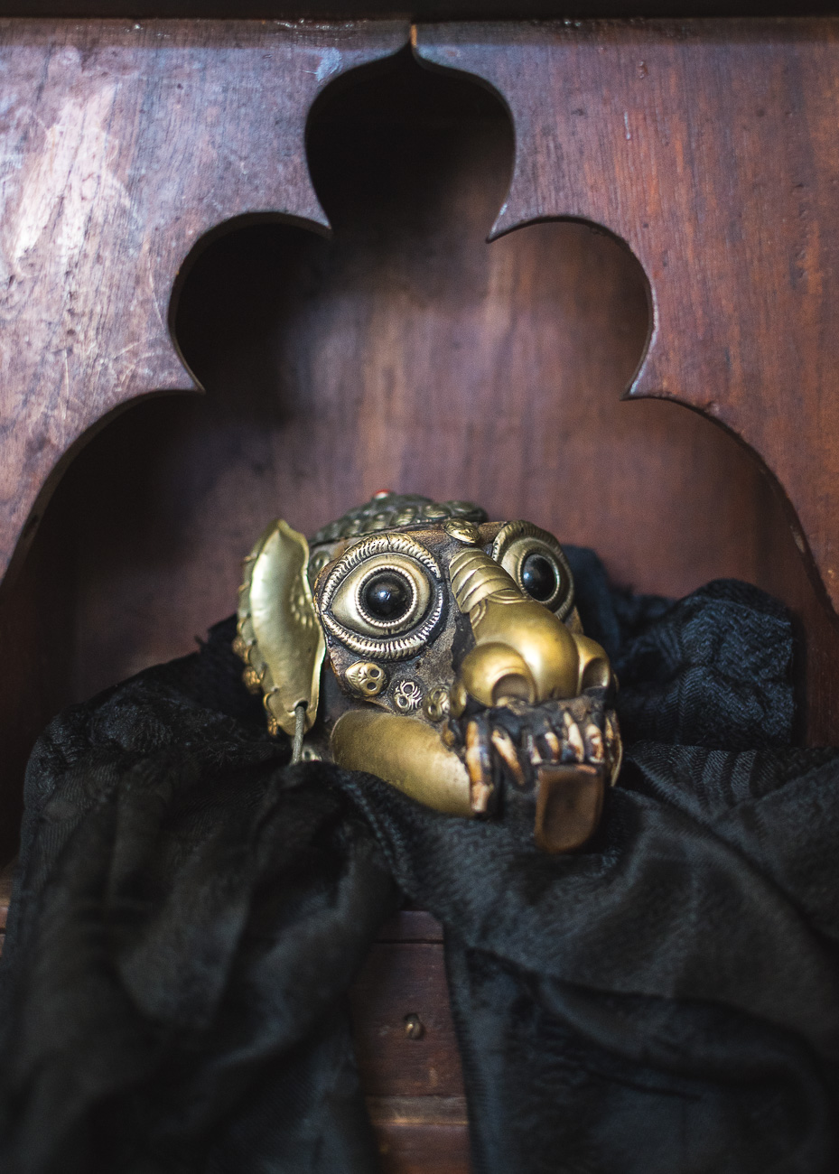 "#2 - ""The Begging Bowl,"" a Tibetan monkey skull brought to the US in the 1950s that requires sustenance to appease the poltergeist lurking within it. Read more about The Begging Bowl in the story. / Image: Phil Armstrong, Cincinnati Refined // Published: 10.20.17<p></p>"