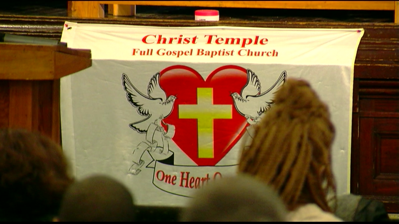 Local pastor Peterson Mingo held services this morning focused on hope and peace following the deadly school shooting in Florida Wednesday. (WKRC)