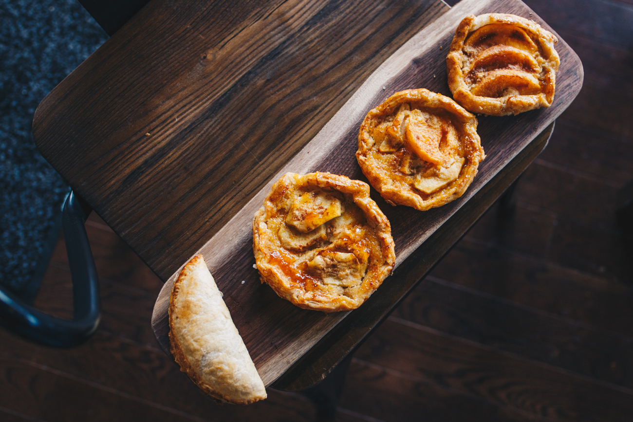 Apple turnover and apple & peach galette/ Image: Catherine Viox // Published: 11.15.18