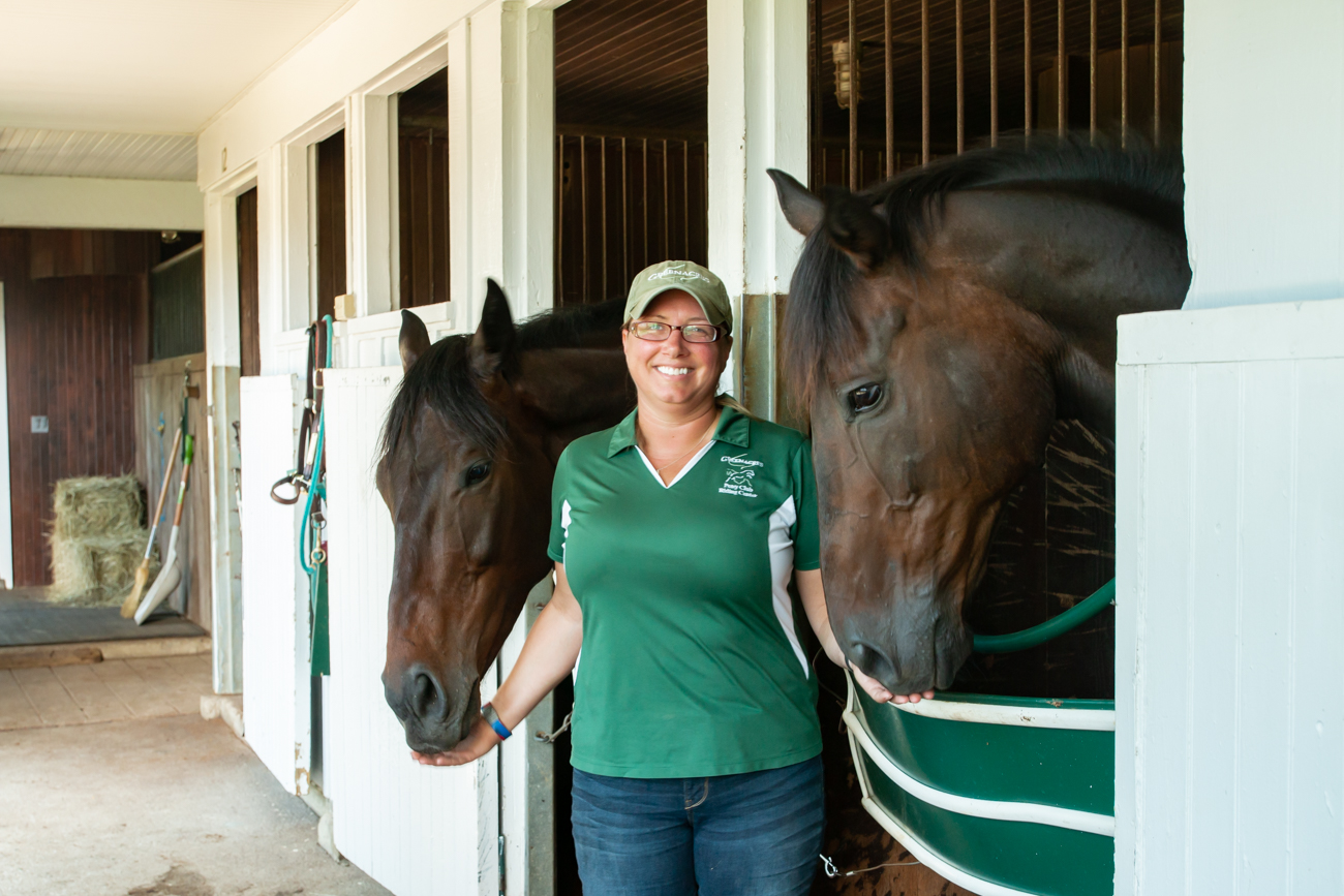 Jessyca Wojtkiewicz, the Director of Equine Education at Greenacres / Image: Elizabeth A. Lowry // Published: 8.3.19