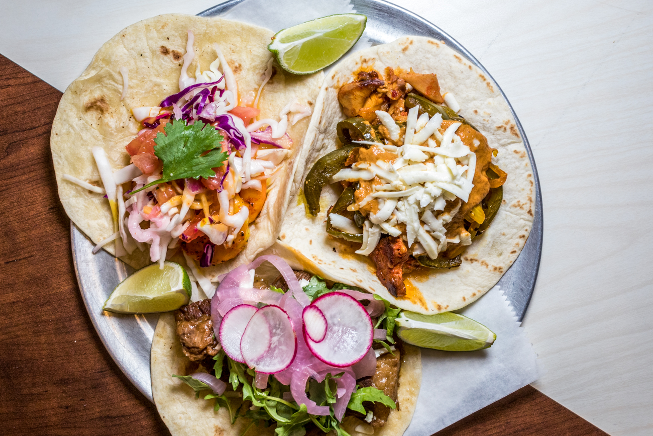"RESTAURANT: Lalo / PICTURED: coconut lime shrimp, drunken brisket, and curry chicken tacos / ADDRESS: 709 Main Street (Downtown) / PHONE: 513-381-5256 / WEBSITE:{&nbsp;}<a  href=""https://www.lalocincinnati.com/"" target=""_blank"">lalocincinnati.com</a>{&nbsp;}/ Image: Catherine Viox // Published: 11.2.20"