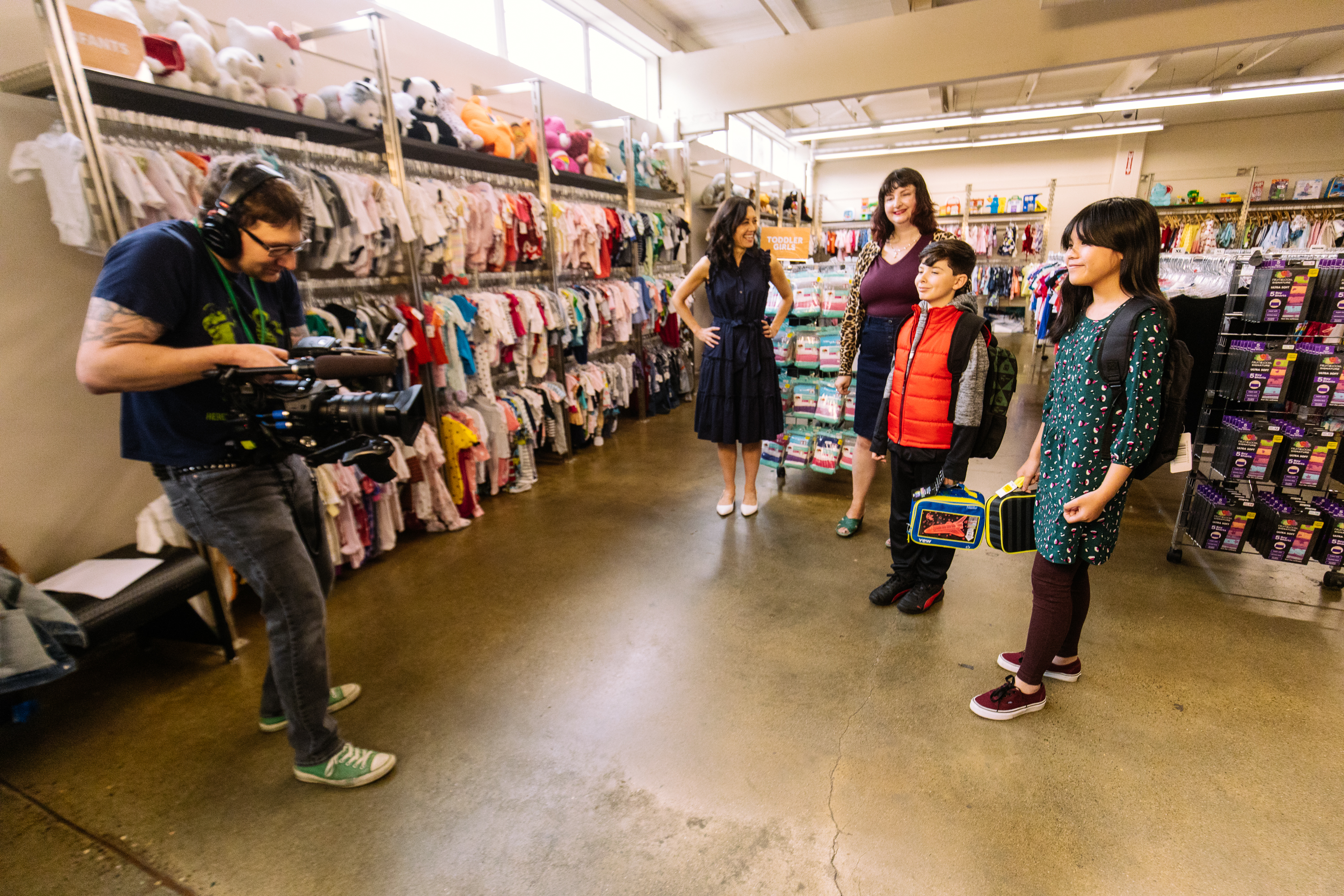 Seattle Goodwill is a great place for families to score the trendiest looks for back to school. That includes retro modern, flannel and{ } comfy cool! Plus Goodwill has new items for sale too, including backpacks and lunch boxes. (Photo: Seattle Goodwill){ }