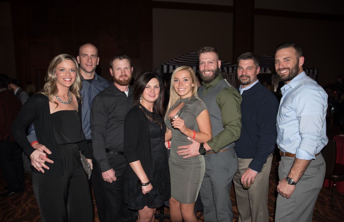 Natasha Wagner, Andy Kennedy, Shawn & Andrea Snoke, Megan Davis, Zach Roll, Scott Plewke, and Seth Stedke / Image: Sherry Lachelle Photography