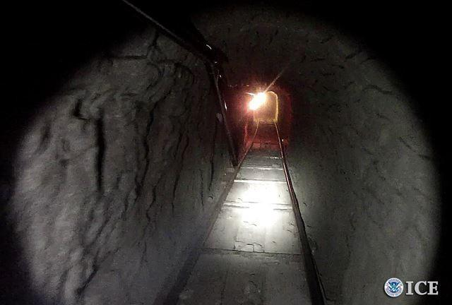The 35 feet deep, 4 feet tall and 3 feet wide tunnel was equipped with lighting and an electric rail system.