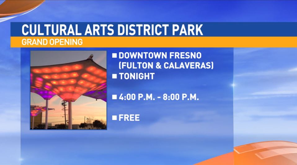 The Cultural Arts District Park is located at Fulton and Calaveras in downtown Fresno