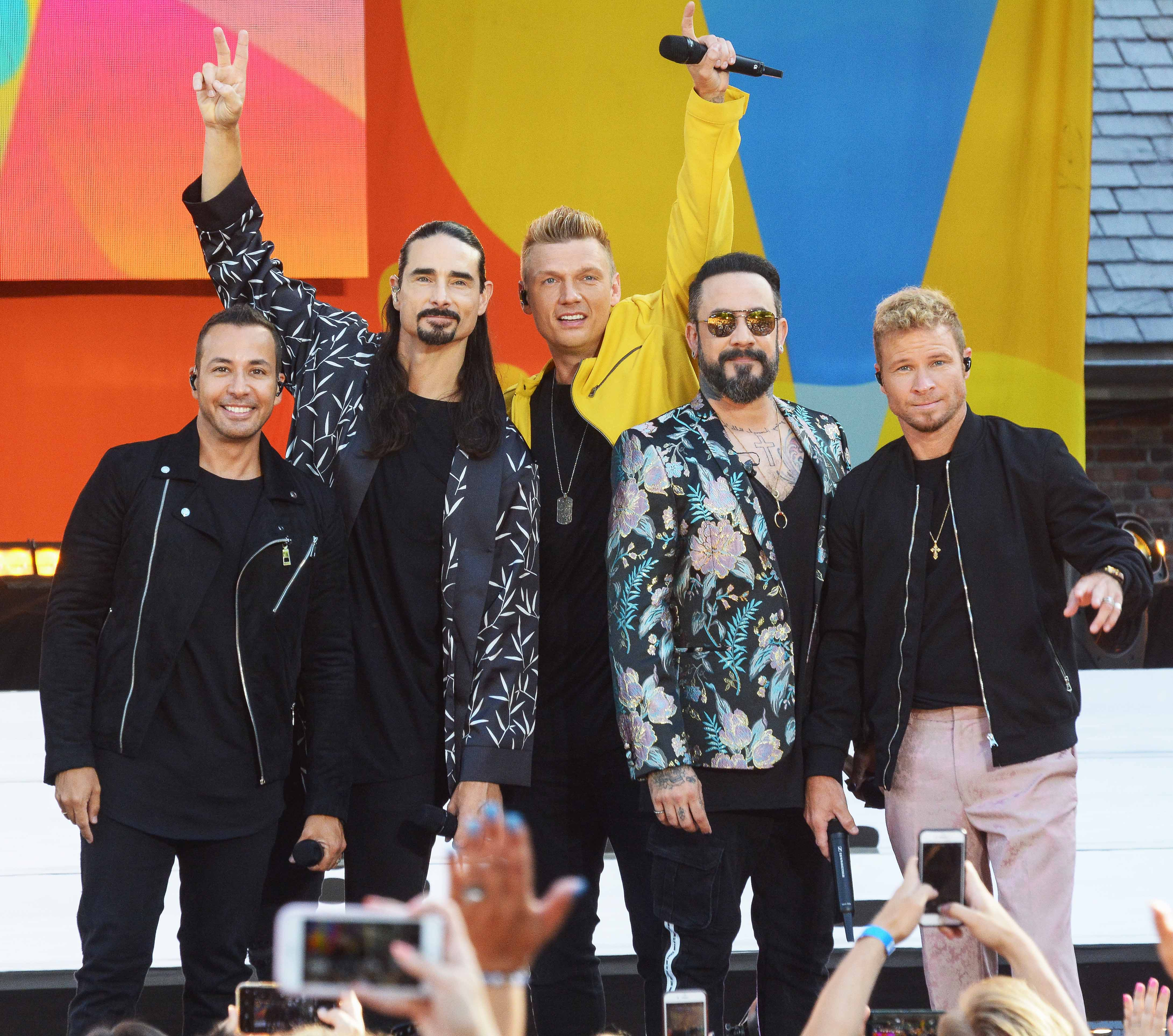 Backstreet Boys perform on 'Good Morning America' in New York City.Featuring: Backstreet BoysWhere: NYC, New York, United StatesWhen: 13 Jul 2018Credit: Patricia Schlein/WENN.com