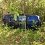 SUV flips over at Thousand Hills State Park