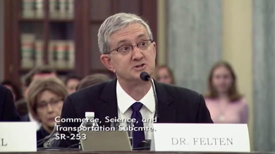 Professor of Computer Science and Public Affairs at Princeton University Edward Felton / Photo: Senate Committee on Commerce, Science, &amp;amp; Transportation's Subcommittee on Communications, Technology, Innovation, and the Internet<p></p>