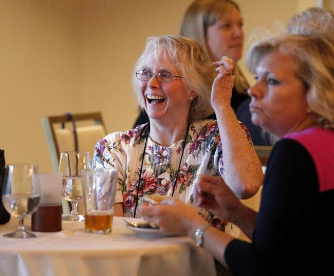 President's Reception during the Oregon Assocation of Municipal Recorders Conference at Ashland Hills Inn on Wednesday. ( // PHOTOS BY: LARRY STAUTH JR)