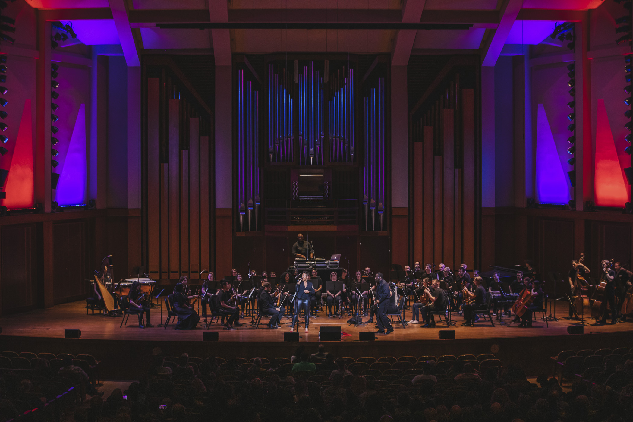 "Last night (Jan. 26, 2020) patrons were treated to a Hip Hop performance from Thee Phantom & the Illharmonic Orchestra at Benaroya Hall. Joined live by the Amazon Symphonic Orchestra, the artists combined the 'raw energy and passion of hip-hop' with orchestral accompaniment. Miss the performance? You can listen to their music{&nbsp;}<a  href=""http://www.theephantomhiphop.com/mixes"" target=""_blank"" title=""http://www.theephantomhiphop.com/mixes"">online</a>. (Image: Sunita Martini / Seattle Refined)"