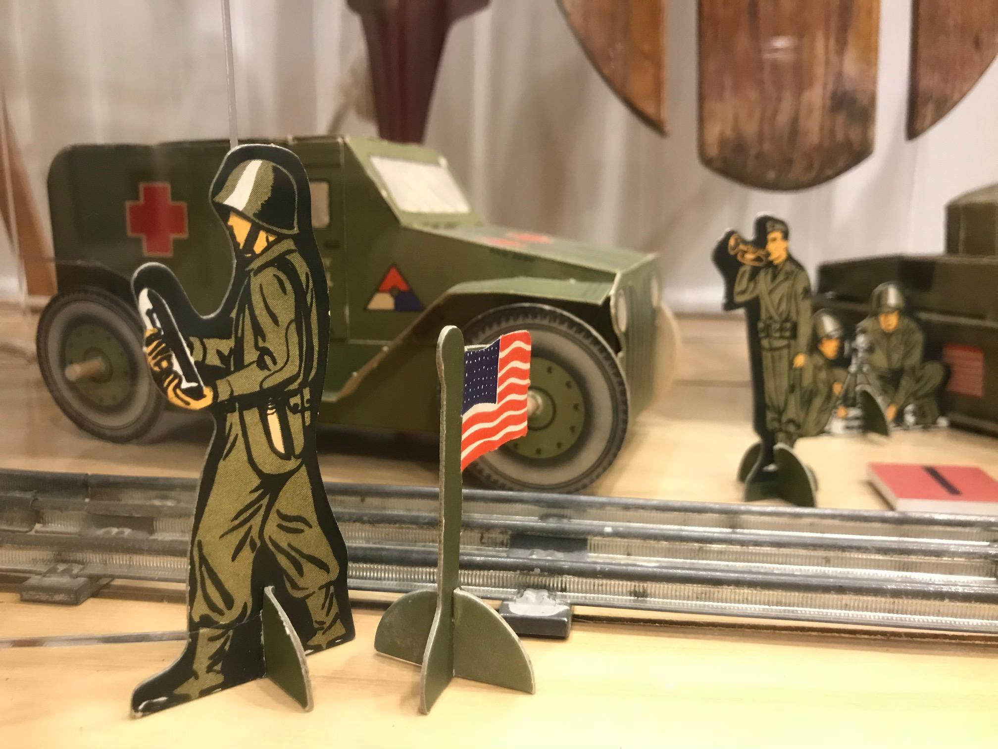 Military toys featured at the History Museum at the Castle in Appleton, January 21, 2018, (WLUK/Lauren Kalil)<p></p>