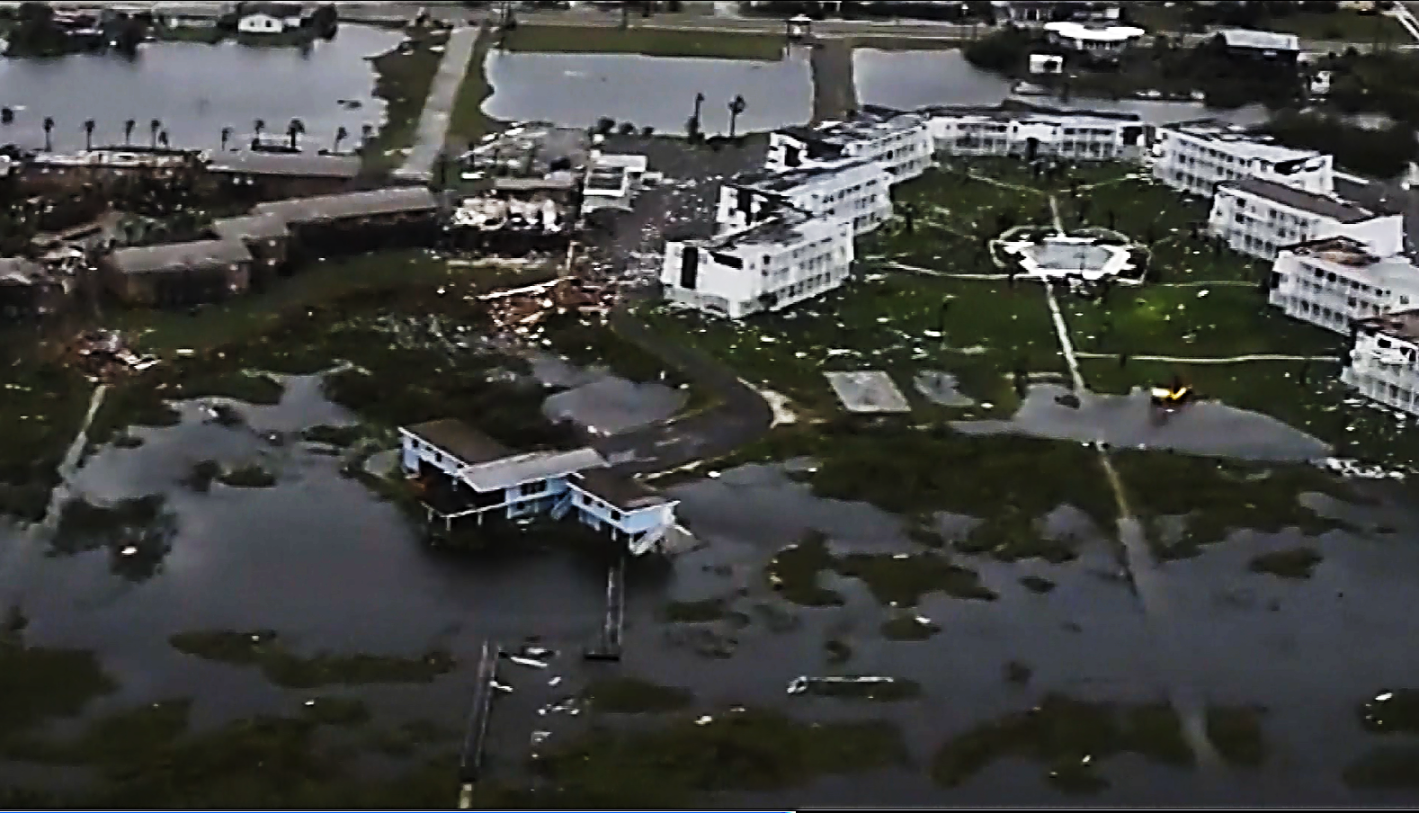 Corpus Christi submerged  (U.S. Coast Guard / CNN)