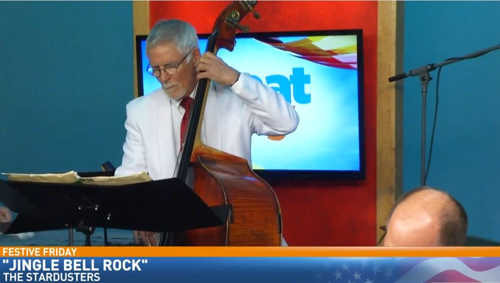 The local Big Band, The Stardusters, perform some great holiday classics for Festive Friday{ }