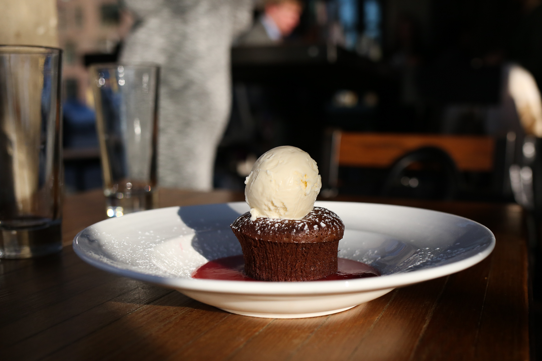 If you haven't had enough, Due South also offers a warm chocolate cake with a raspberry coulis.{ }(Amanda Andrade-Rhoades/DC Refined)