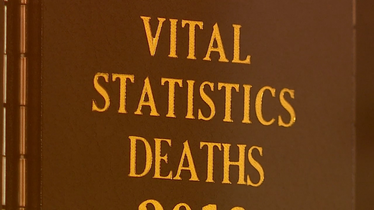 Buncombe County's Register of Deeds Office shows 2020 had more people dying in 2020 than the numbers of babies born -- with 4,062 deaths and 4,048 births -- for the first time in the county's history. (Photo credit: WLOS Staff)