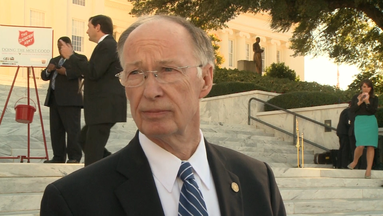 Alabama Gov. Robert Bentley became visibly irritated and asked why he would ask that question. Bentley added that he didn't think people cared as long as he was doing his job well. (WAKA)