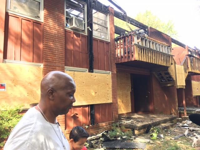 Victims like Patrick Sturdivant have lost all their possessions. (Photo credit: WLOS staff)