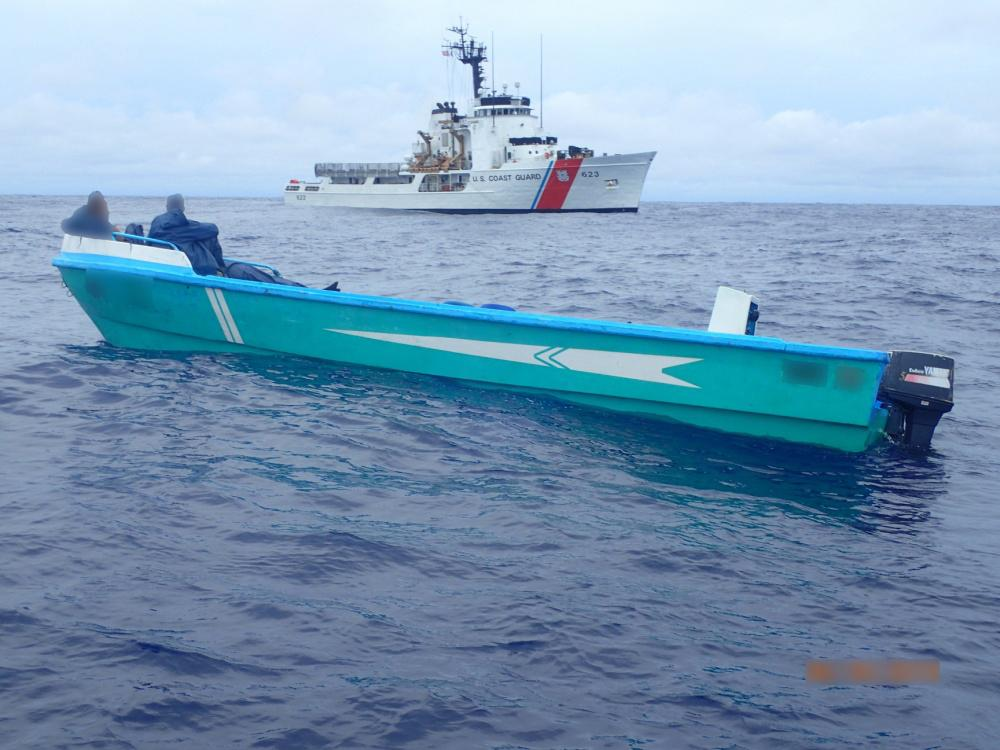 The crew of the U.S. Coast Guard Cutter Steadfast stopped this boat in the Eastern Pacific Ocean suspected of smuggling cocaine. (Photo: U.S. Coast Guard)