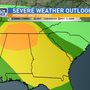 Marginal Risk for Severe Weather Monday