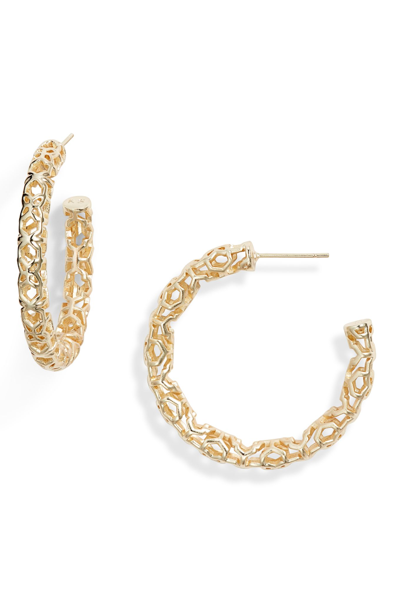 Kendra Scott Maggie 1.5 Hoop Earrings (normally $58): NOW $37.90 (Image: Nordstrom){ }