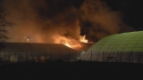 Massive fire hits Mass. athletic complex