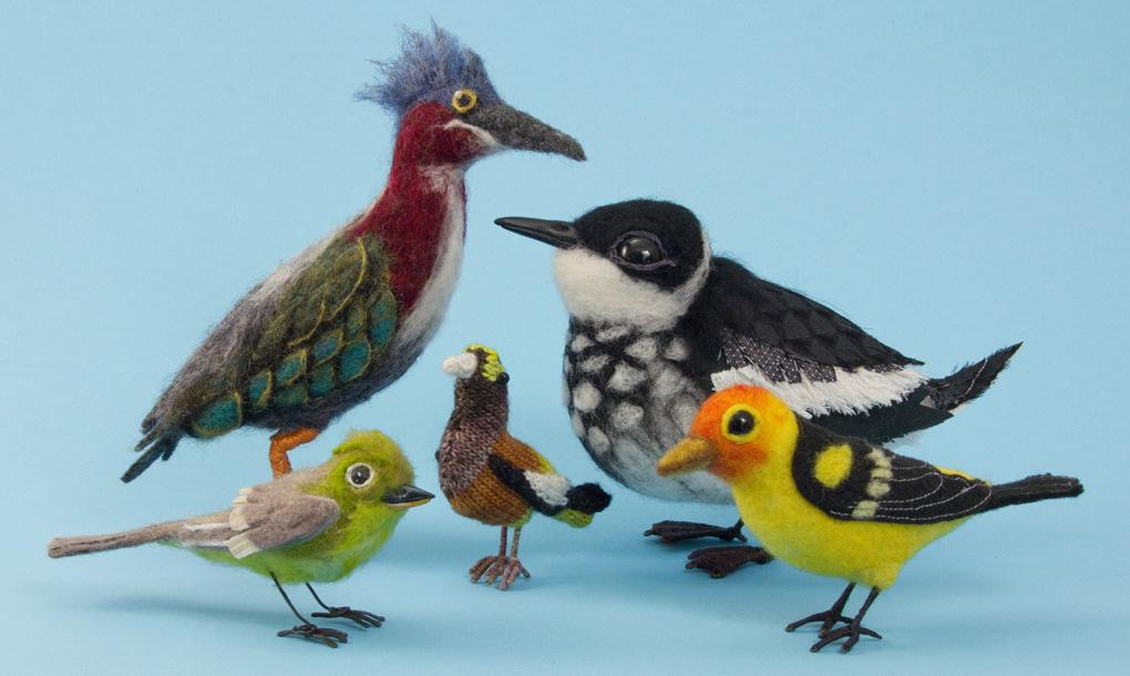Group of birds by variousartists (Image via Coos Art Museum)