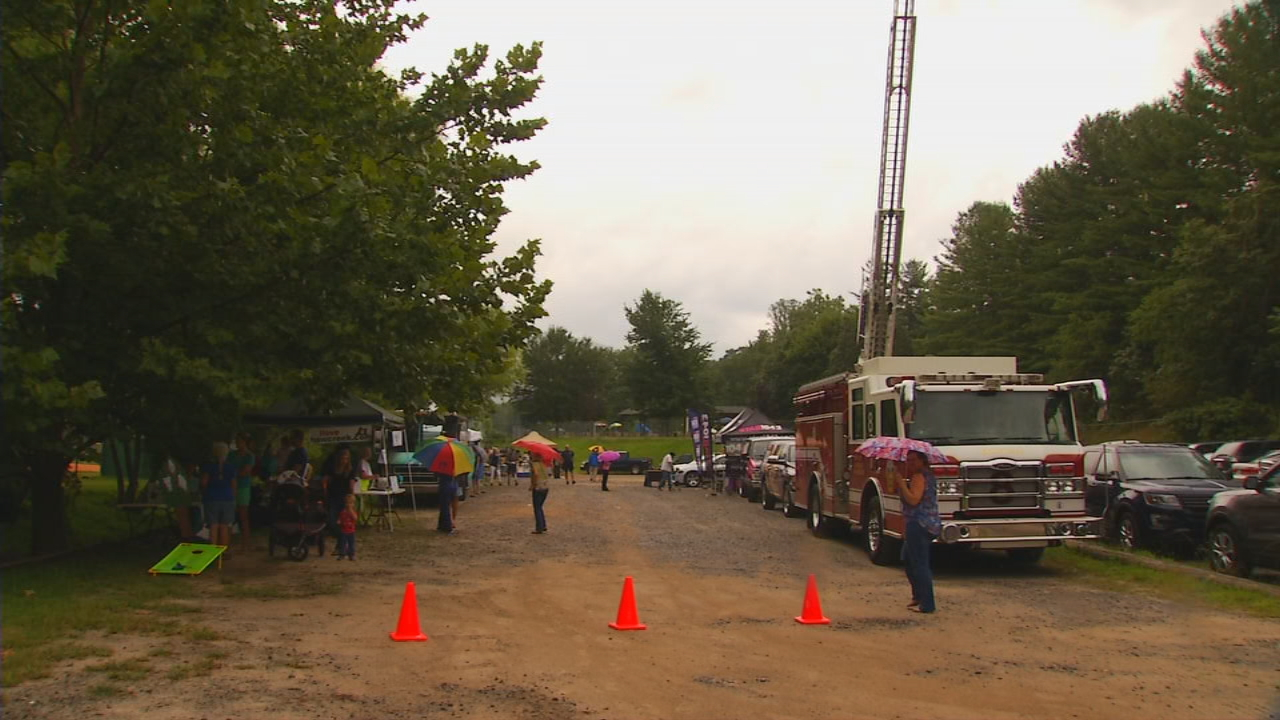 Haw Creek participated in its third National Night Out at Charlie Bullman Park on Tuesday night. (Photo credit: WLOS staff)