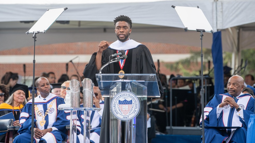 Howard Forever': Chadwick Boseman delivers commencement