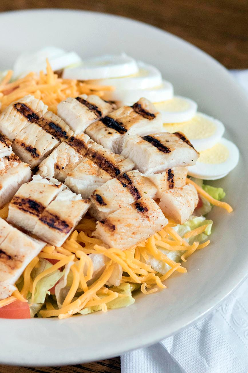 Grilled chicken salad / Image: Allison McAdams // Published: 2.12.18<p></p>