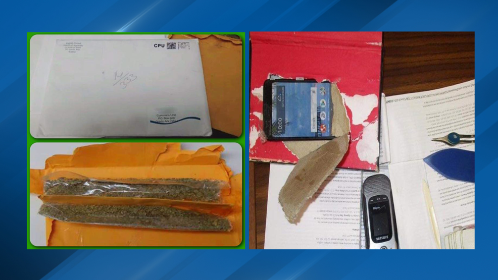 Arkansas Department of Correction finds K2 inside mail, hollowed books with cellphones