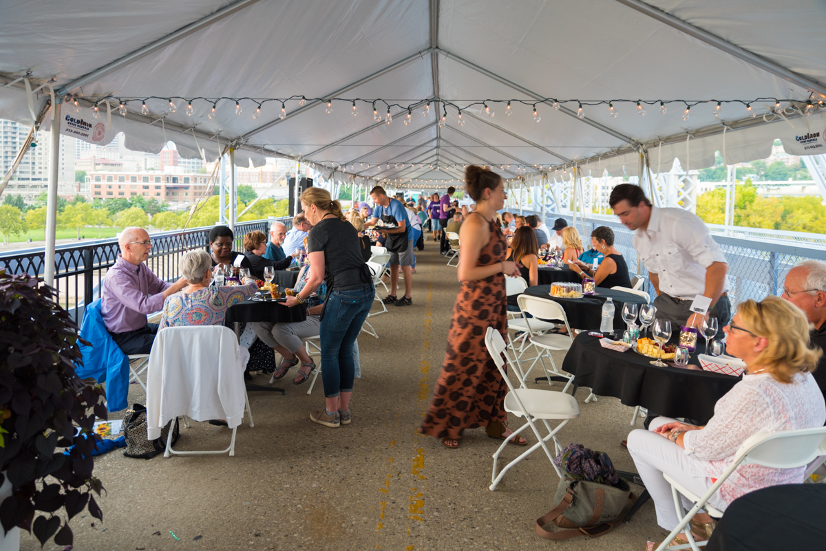 Wine Over Water was held on the Purple People Bridge on Saturday, August 25. Admission included six wine & beer tasting tickets and six food tasting tickets. The event was a fundraiser benefitting the Brighton Center, a nonprofit that helps people reach self-sufficiency through support services, education, employment, and leadership. / Image: Sherry Lachelle Photography // Published: 8.26.18<p></p>