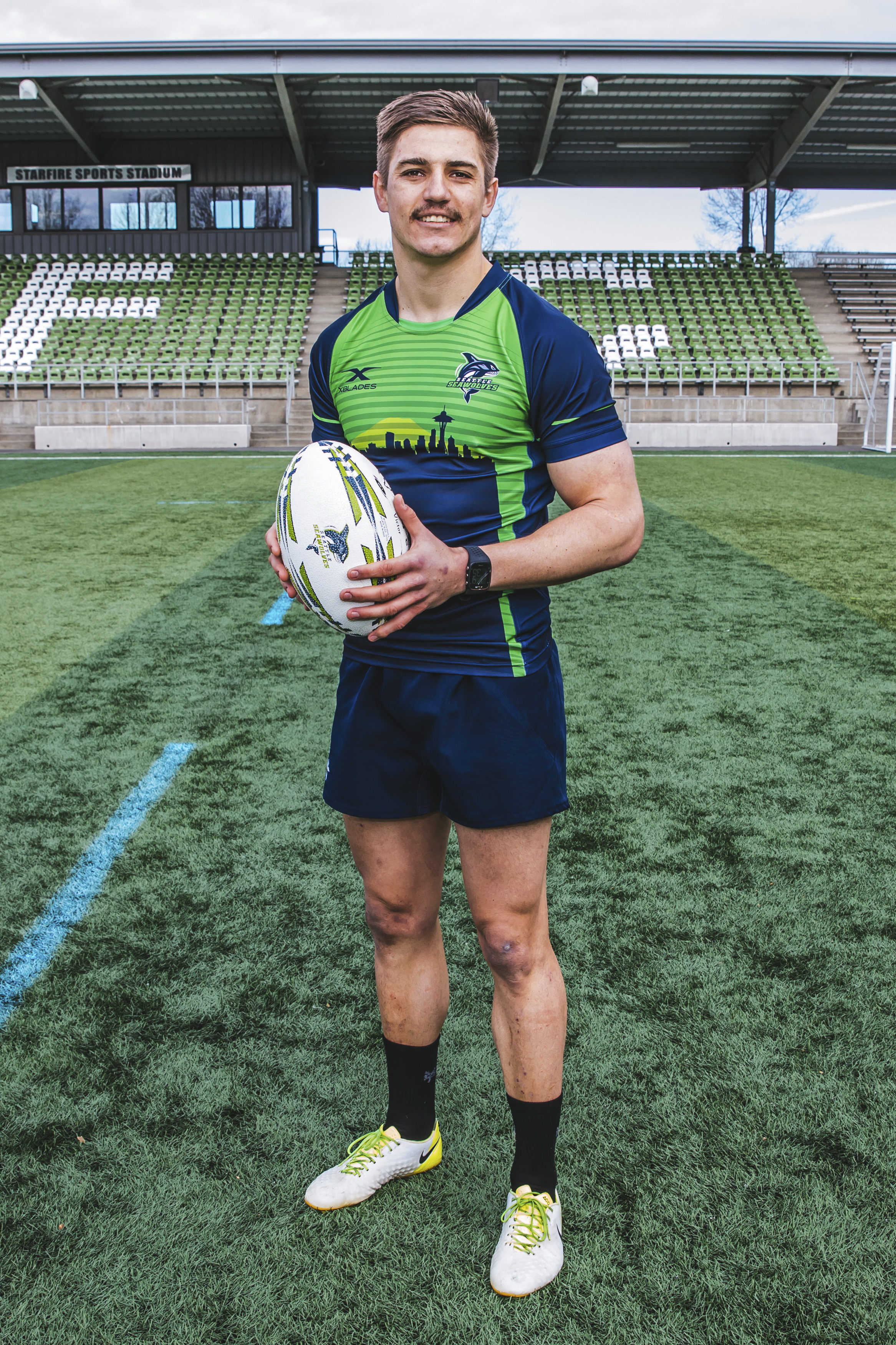 Look at that sweet face! JP is 24 and was born in Queenstown, South Africa. He plays Scrum Half for the Seawolves and his favorite food is steak, favorite TV show is Fringe and he's got a big ole celebrity crush on Julianne Hough! (Image: Sunita Martini / Seattle Refined).
