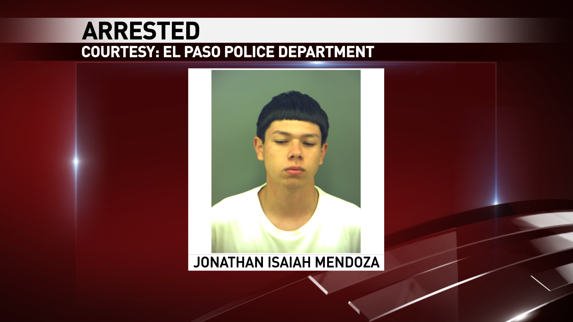 Jonathan Mendoza was charged in an aggravated robbery that happened at an east El Paso smoke shop.