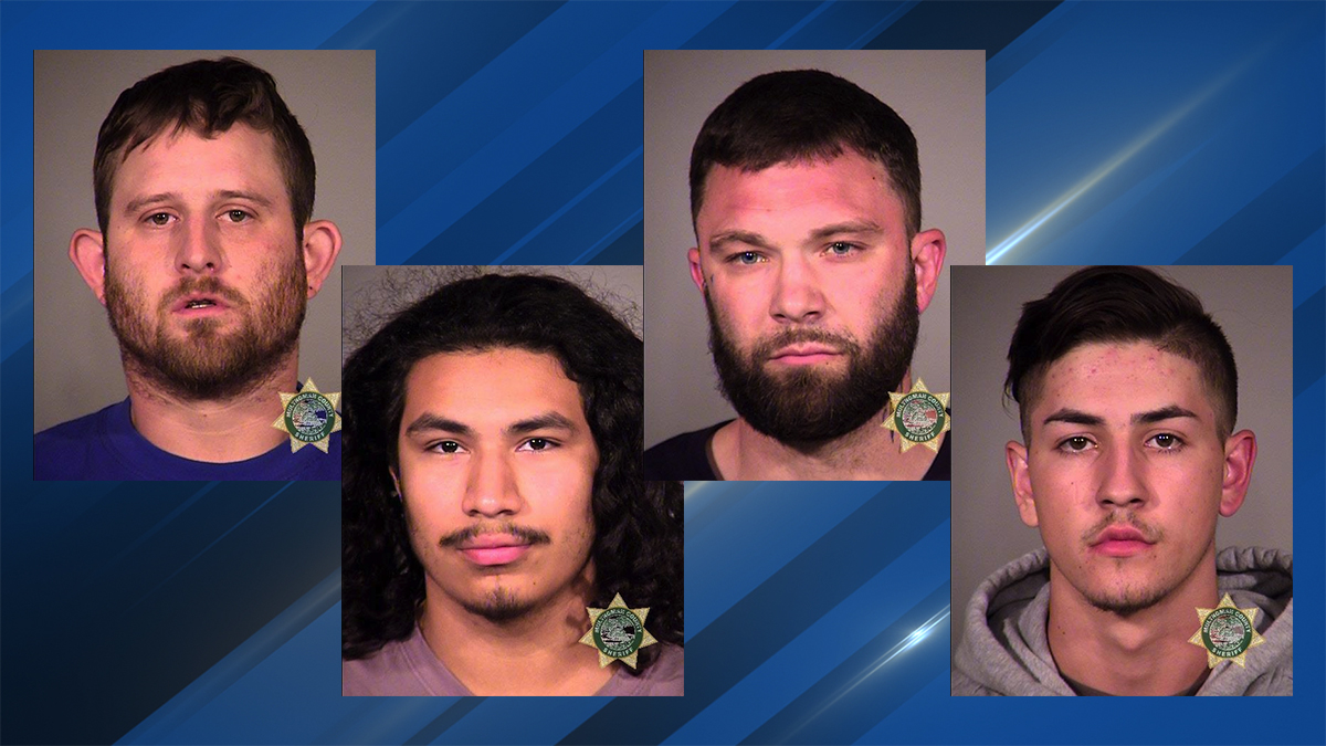 Photos of Alexander Lewis, Brandon Vargas-Sanchez, Troy Starks, and Daniel Strugar from the Multnomah County Jail.jpg